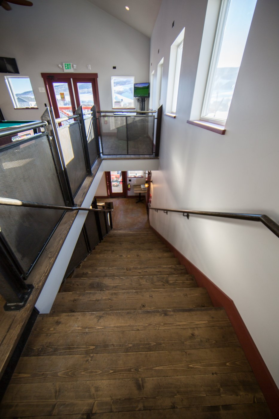 Tully's stairs from the loft