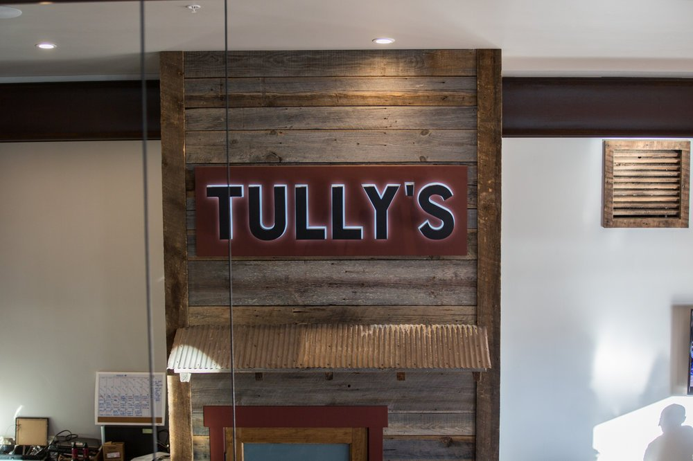 Tully's sign inside