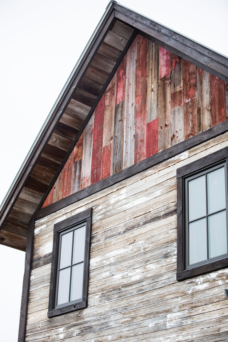 Reclaimed wood home upper trim