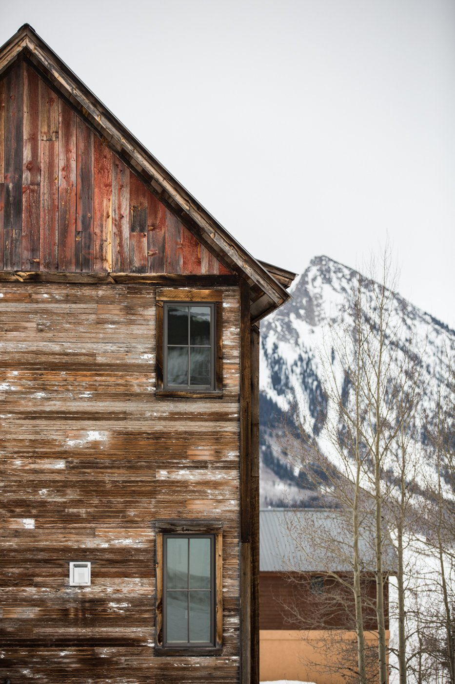 side of house and mount Crested BUtte