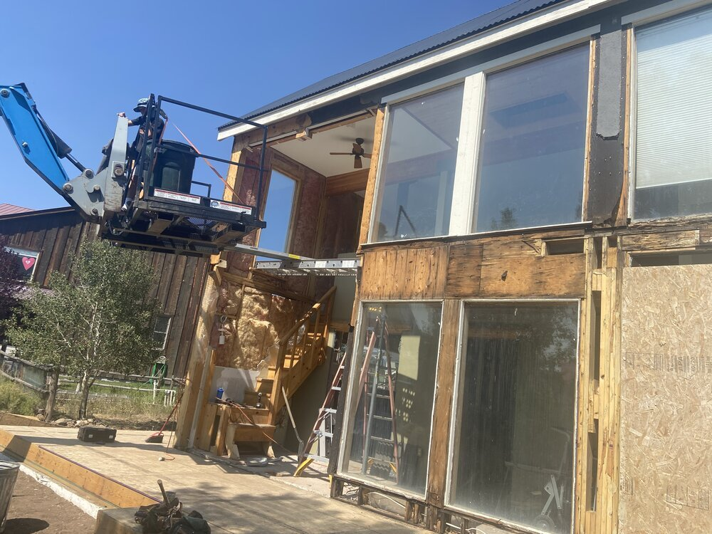 House under construction on Shavano