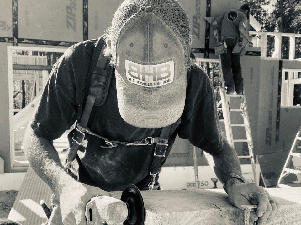 Bryan Hawley working